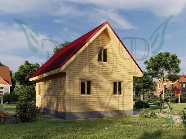 Дом из бруса ТВОРИМИР 6х9 м.