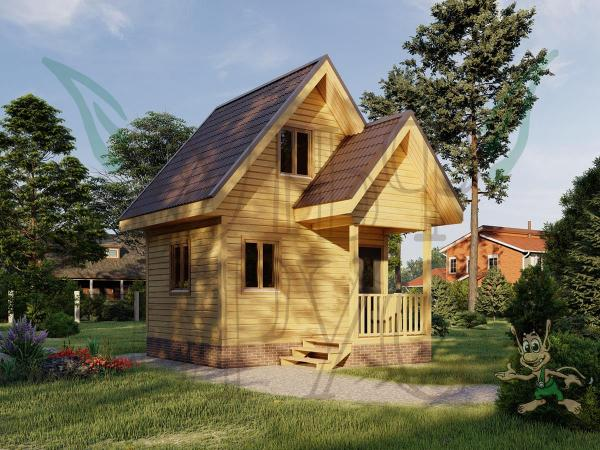Дом из бруса ВСЕСВЕТ 4х5 м.