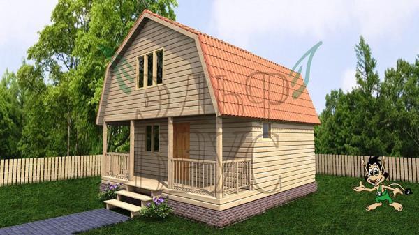 Каркасный дом ВОЛХОВЕЦ 6х6 м.