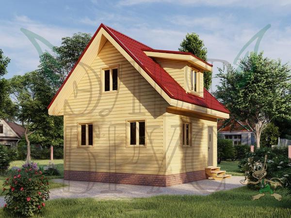 Дом из бруса БОРИСЛАВ 6х6 м.