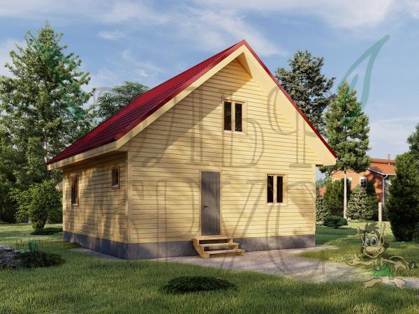 Дом из бруса РЮРИК 8х8 м.