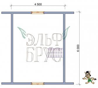 Дом из бруса Кронос 6х6 м.